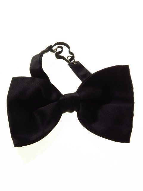 564c724e7033 Large black satin bow tie - Tweedmans Vintage | Mens Bow Ties ...
