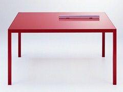 Tavolo allungabile in alluminio COLORS | Tavolo quadrato - MDF Italia
