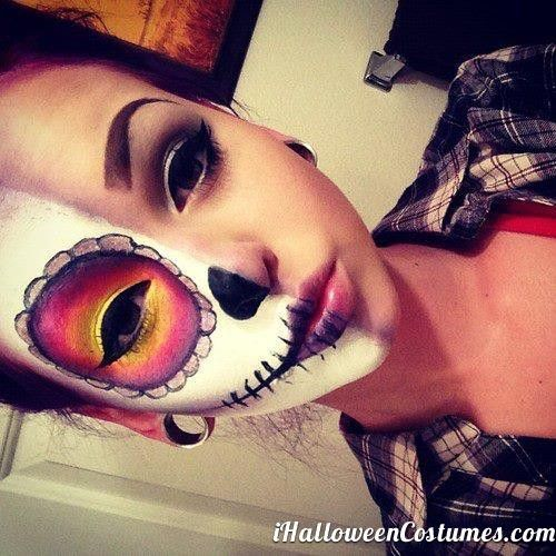half face makeup for Halloween » Halloween Costumes 2013