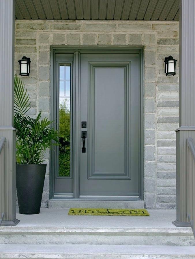 Steel Entrance Door Single Front Door With One Sidelight Images