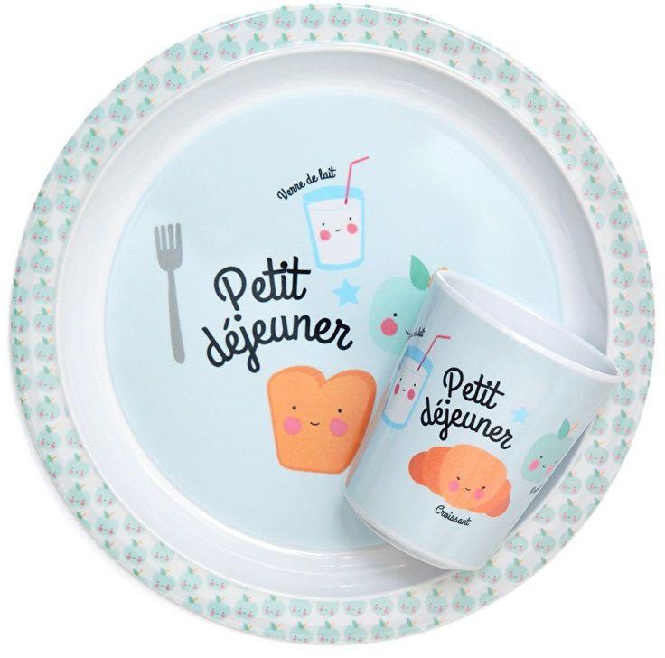 Eef Lillemor blauw melamine bord petit dejeuner #eeflillemor #melamine