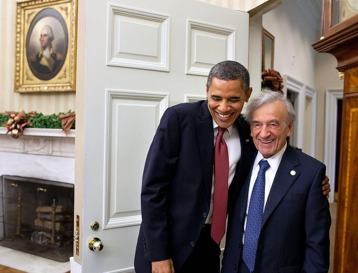 Today remembering Elie Wiesel, shown here with President Obama in 2011. #eliewiesel