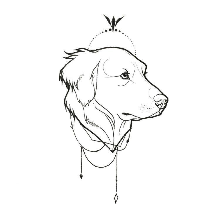 Diseño de tatuaje Golden Retriever insp. Todas mis obras de arte son únicas. Si quieres un …   – Ganseb