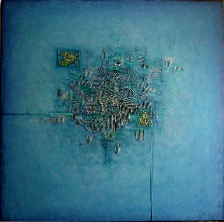2015/16, 90x90 cm, mixed media on canvas
