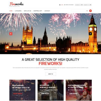 Fireworks Store Parallax OpenCart Template