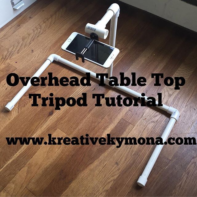 Yayyy, I was able to get this Overhead Table Top Tripod tutorial up on my blog for all of you, today!! Check it out!! Super easy to make!! #overheadtripod #diy #cameramount #simplevideotapping