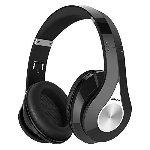 Mpow Bluetooth Headphones Over Ear Hi-Fi Stereo Wireless Headset Foldable Soft Memory-Protein Earmuffs w/ Built-in Mic and Wired Mode for PC/ Cell Phones/ TV