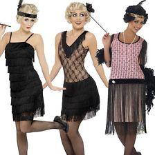 Charleston Kleid Schwarz Spitzen Coco Flapper 1920 20er Jahre Damen Kostüm Jazz