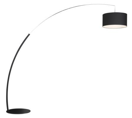 The expandable Dimesions Floor light Available in Black and White. 200/228h x 126/240w cm. £1121