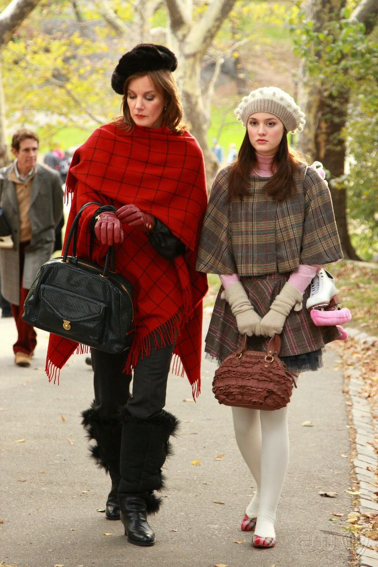 Gossip Girl Season 1. Eleanor and Blair Waldorf.