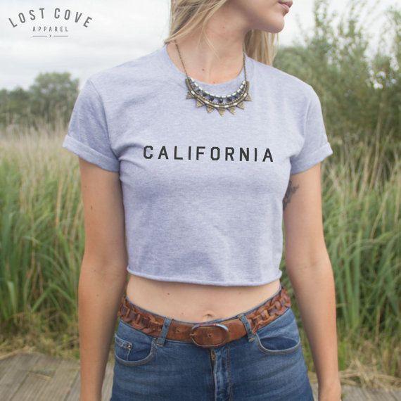 Californië Crop Top Shirt Blogger grappig door LostCoveApparel