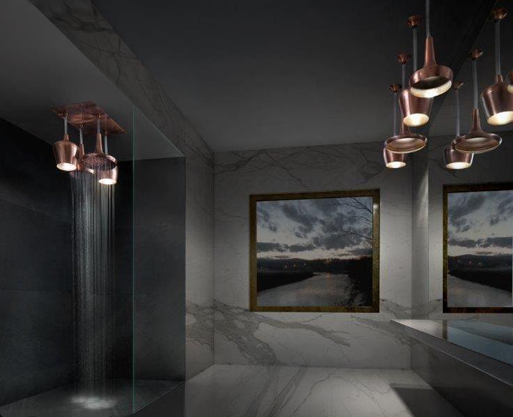 Soffioni doccia con luce e acqua. Tender Rain shower solutions.