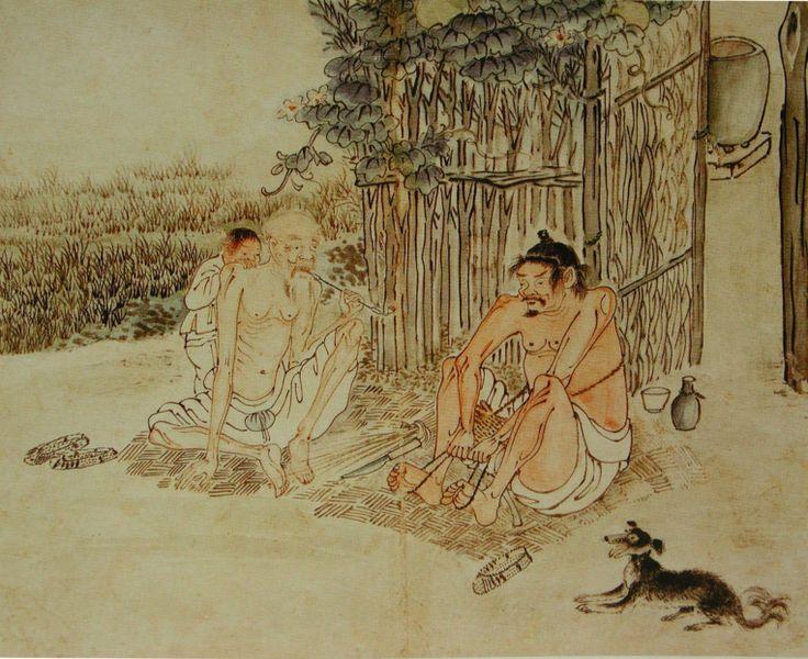 긍재(兢齋) 김득신(金得臣) 作 - 성하직구(盛夏織屨. 18세기 말-19세기 초)