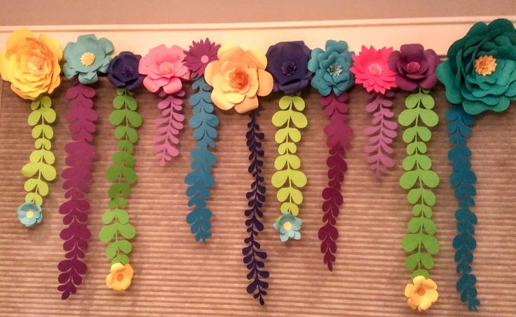 Paper Flowers I made for a Troll themed birthday party. www.carismaticdesigns.com
