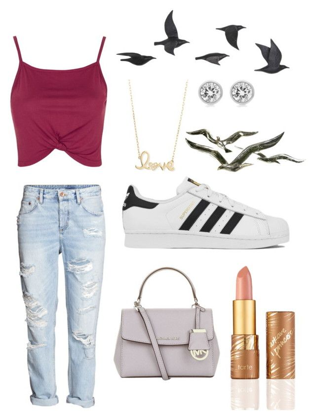 """Swag"" by anicute on Polyvore featuring Topshop, H&M, Jayson Home, Sydney Evan, Michael Kors, adidas, MICHAEL Michael Kors and tarte"