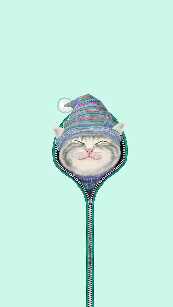 WINTER WARM AND COZY KITTY CAT •