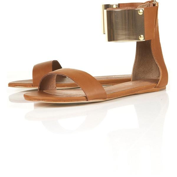 FORTUNE Metal Cuff Sandals