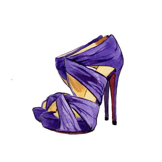 Shoe Watercolor Illustration Christian by LadyGatsbyLuxePaper, $10.00 (I don't know, I just like the idea of painting shoes... its kinda cute :)