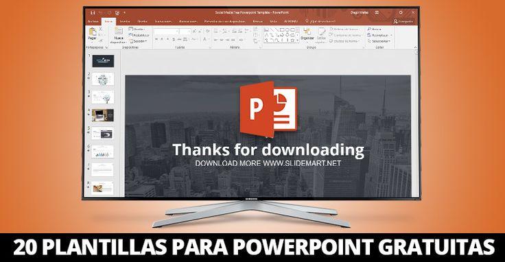 20 plantillas para Powerpoint gratuitas.