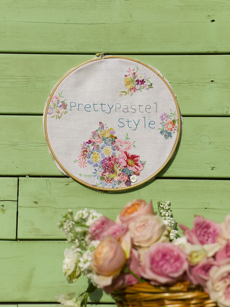 Selina Lake: Mollie Makes 2013 Calendar - Pretty Pastel Style Sneak Peek - Vicky Trainor Hoop