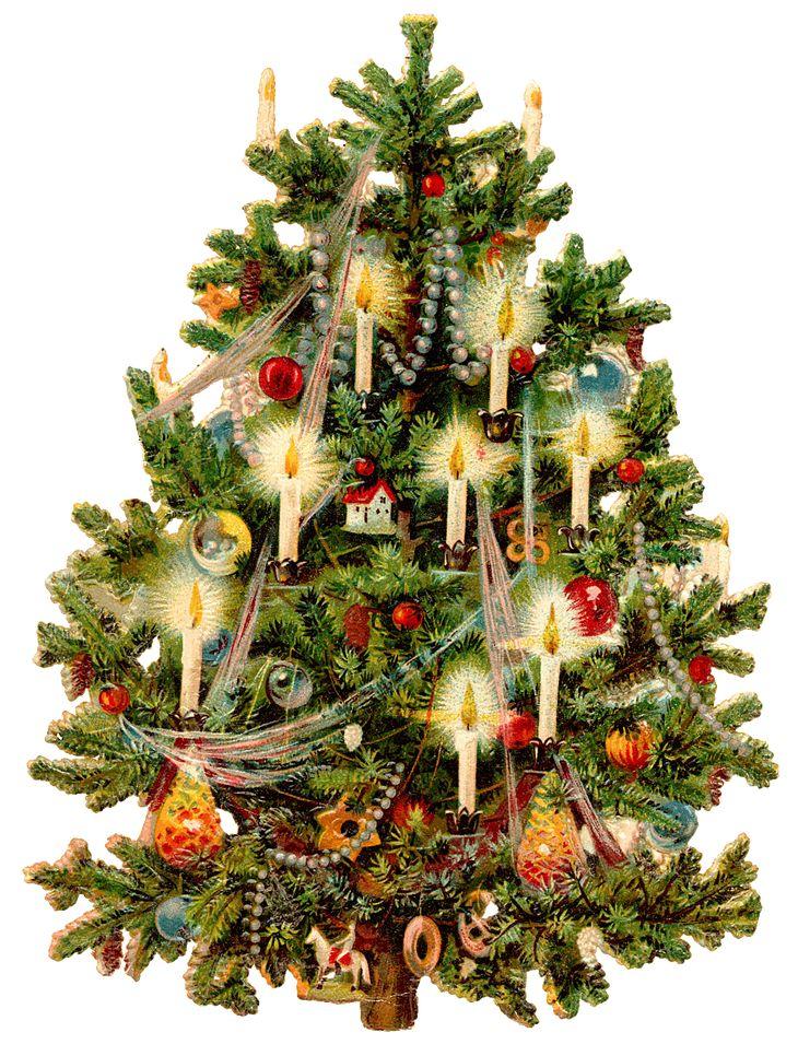 Wings of Whimsy: Victorian Christmas Tree PNG (transparent background) #vintage #ephemera #freebie #printable #christmas #tree