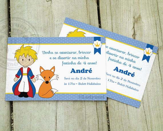 Little Prince Printable Invitation Le Petit Prince Digital
