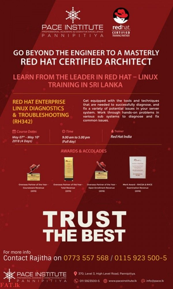 Red Hat Linux - Certified Architect Course - Pannipitiya | IT