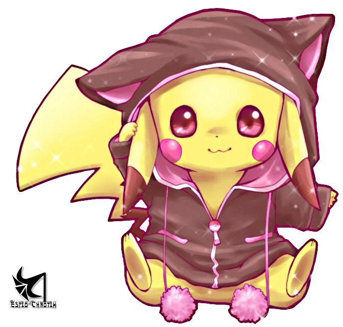 Pikachou et son swett neko !!