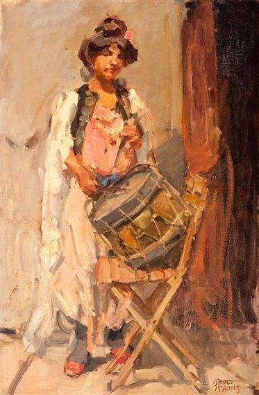 Isaac Israëls - De trommelaarster #3