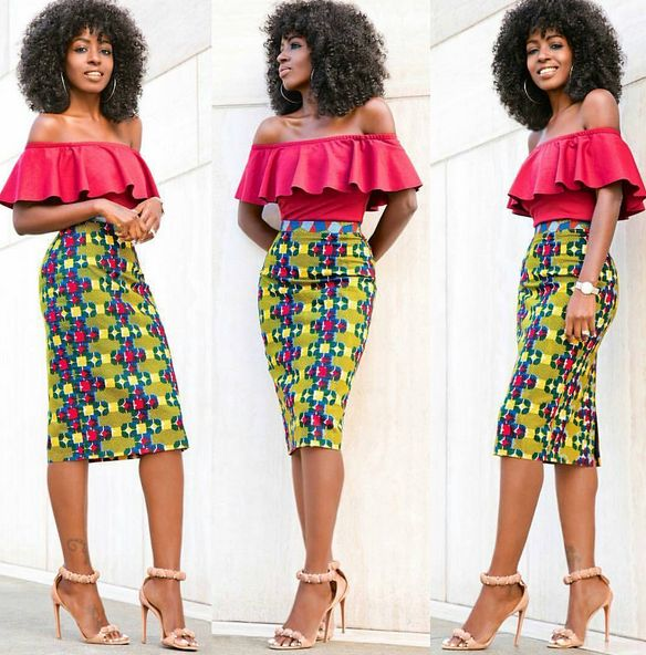 Creative Ankara Skirt and Top Design - DeZango Fashion Zone