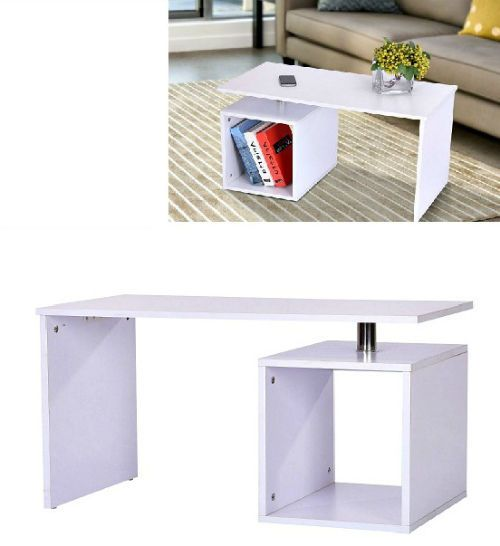 White End/Side Table Living Room Coffee Lamp Desk TV Stand Computer Workstation #SideTableFurniture #Contemporary