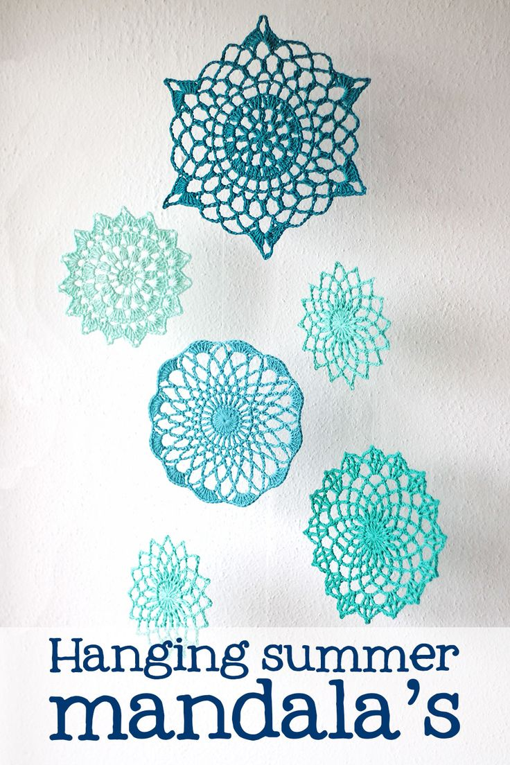 Summer mandala's: a free crochet pattern in NL/EN on Haakmaarraak.nl!