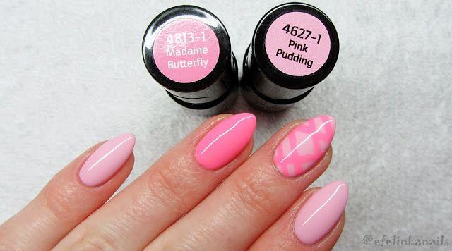 baseveheinails: Neonowe różowe paski