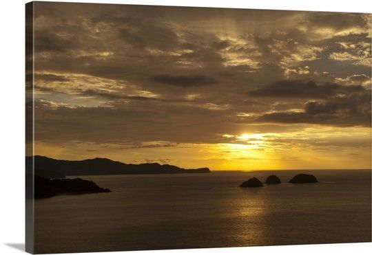 Sunset over the Pacific ocean, Bahia Hermosa, Gulf Of Papagayo, Guanacaste, Costa Rica