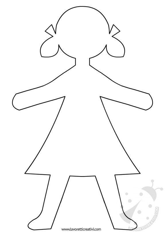 """Sagome di bambini che potete stampare e utilizzare come volete! Per salvare l'immagine cliccate sul disegno con il tasto destro del mouse e andate su """"Salv"""