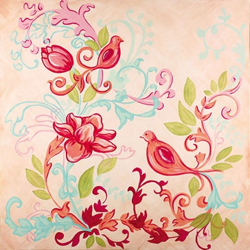 Boho Bird Modern Collection By Reesa really thinking about this for one wall or ceiling!