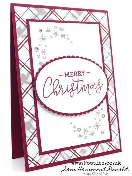 Warmherzige festliche Bauernhaus-Weihnachtskarte …