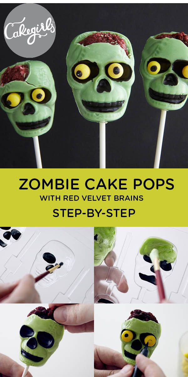 Use a mold to make D.I.Y. Zombie Cake Pops! #zombies #halloween #cakepops