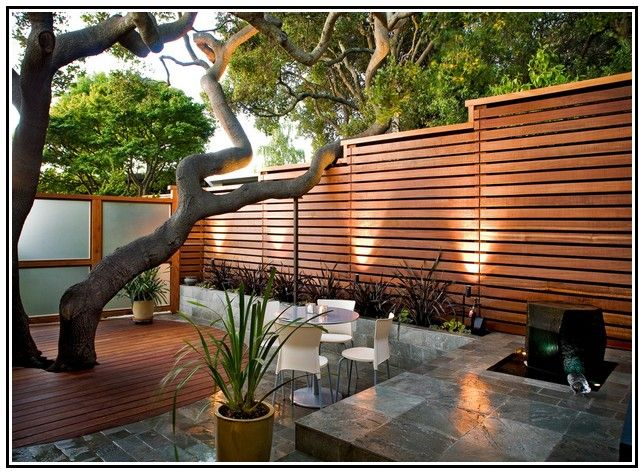 Contemporary Horizontal Fence Panels