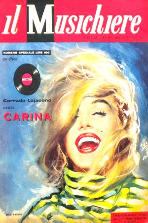 1959: Il Musichiere magazine cover of Marilyn Monroe .... #marilynmonroe #normajeane #vintagemagazine #pinup #iconic #raremagazine #magazinecover #hollywoodactress #1950s