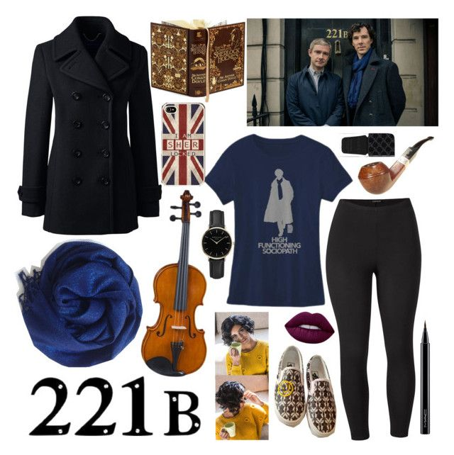 """""""Sherlock"""" by starsparkle267 ❤ liked on Polyvore featuring Lands' End, Venus, Vans, BLVD Supply, Lime Crime, Gucci, ROSEFIELD, MAC Cosmetics and plus size clothing"""
