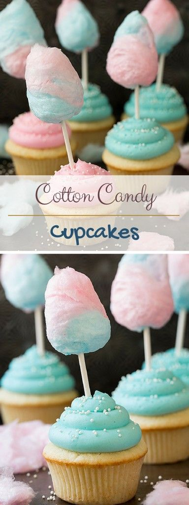 Get the recipe ♥ Cotton Candy Cupcakes #recipes