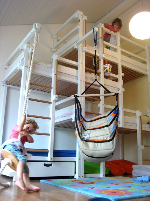 Laterally staggered beds..I don't plan on  having this many kids, but how cool!