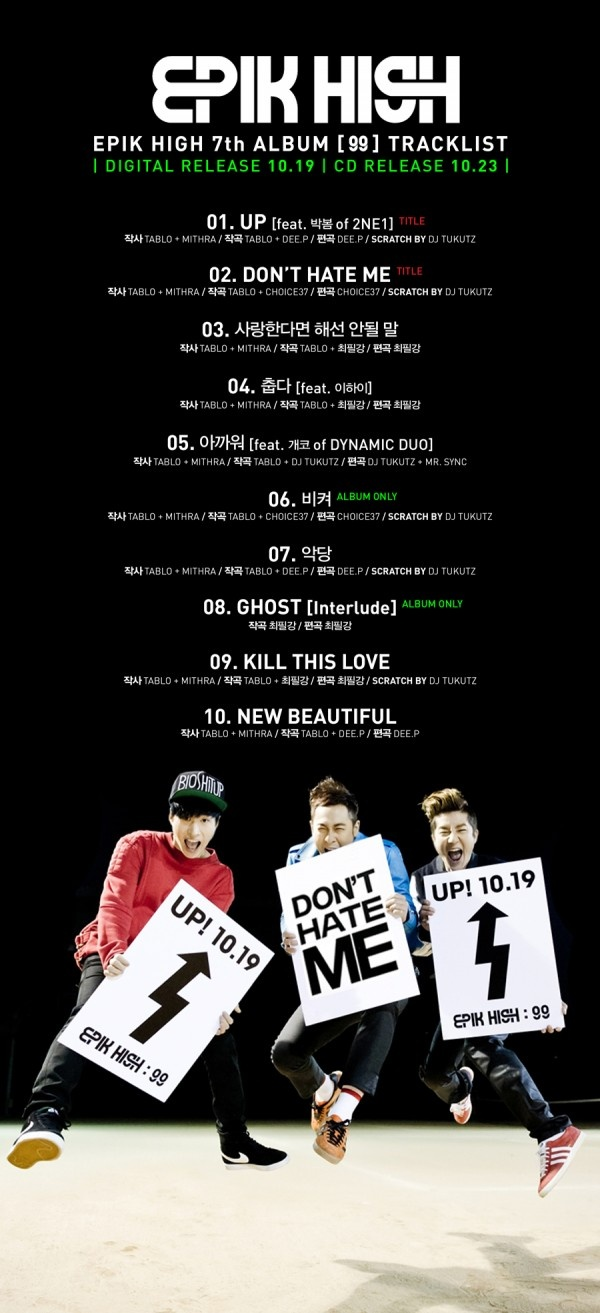 Epik High reveals more information about '99′ album
