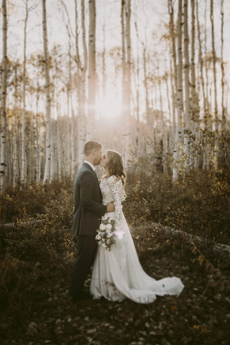 modest wedding dress with long sleeves from alta moda. -- (modest bridal gown) photo by @megbirdphoto