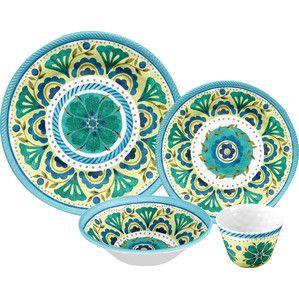 16-Piece Harlow Melamine Dinnerware Set