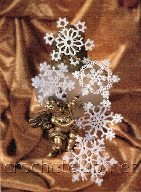 Uncinetto d'oro: Fiocchi di neve con schemi