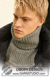 DROPS neck warmer in textured pattern