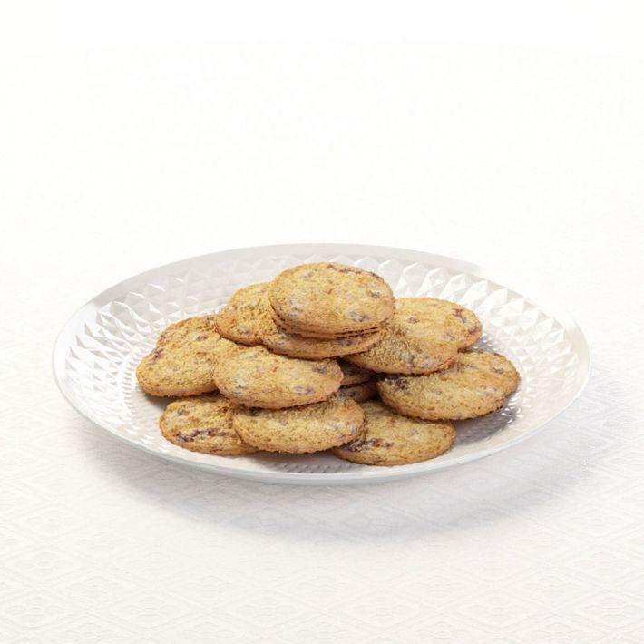 Cookies On Porcelain Plate 3d Model Food Plates Porcelain