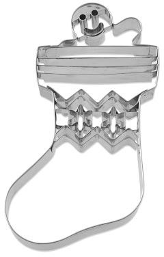 Williams-Sonoma Williams Sonoma Giant Stainless-Steel Gingerbread Man in Stocking Cookie Cutter